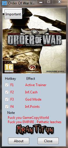 Screens Zimmer 7 angezeig: order of war trainer