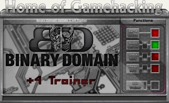 Binary Domain Трейнер скачать
