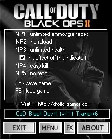 Скачать Трейнер На Call Of Duty Black Ops 2 - фото 2