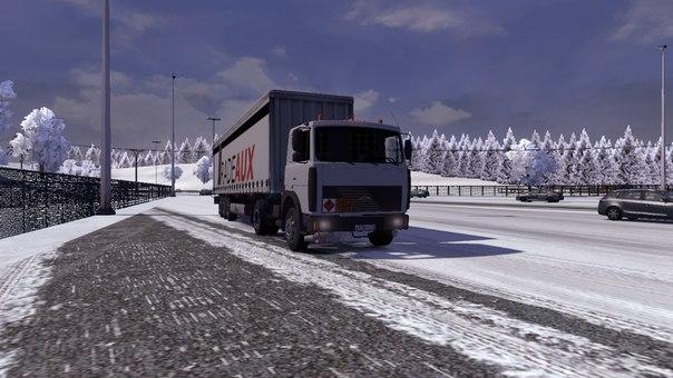 мод зимы для euro truck simulator 2 скачать
