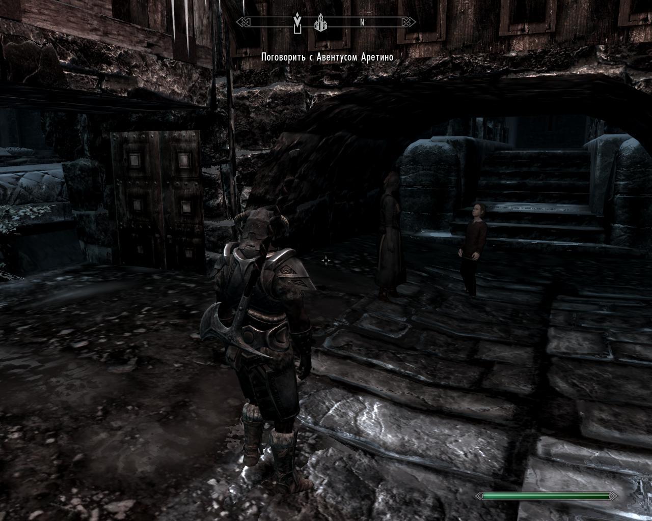 Скайрим на меня напал член темного братства