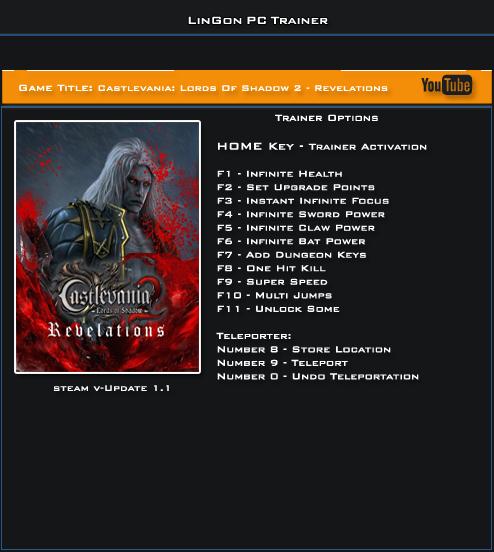 трейнер скачать Castlevania Lords Of Shadow 2 - фото 2