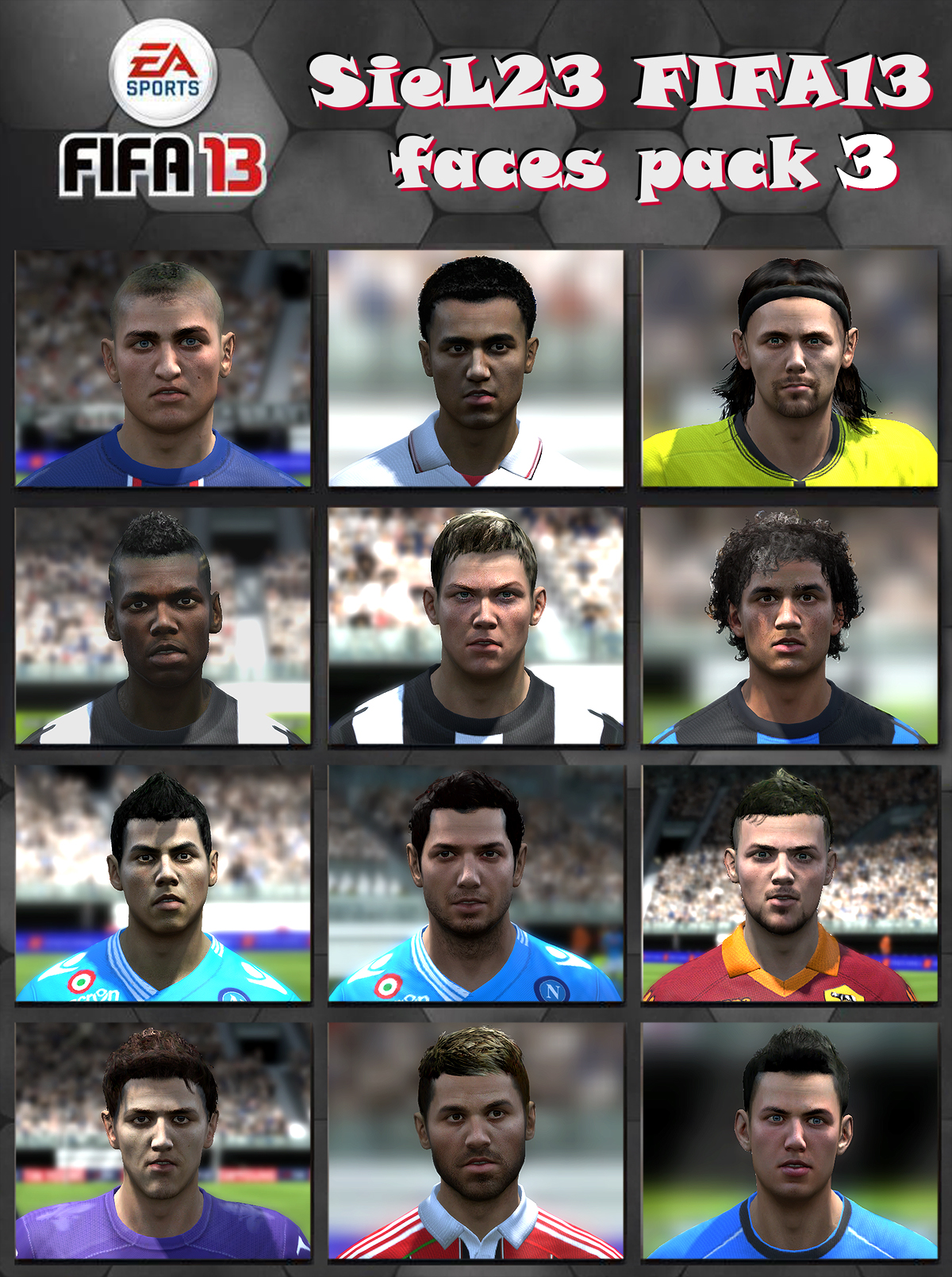FIFA13 faces pack 3 by SieL23 - новые лица для fifa13 таких футболистов: Co