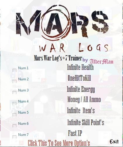 1Mars War Logs Trainer