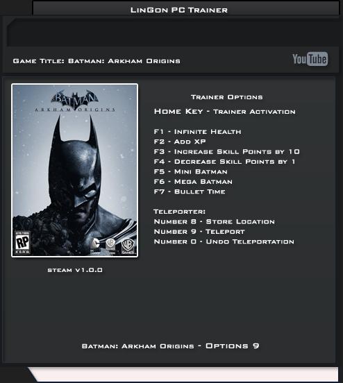 Скачать трейнер batman arkham city — autodommazda.