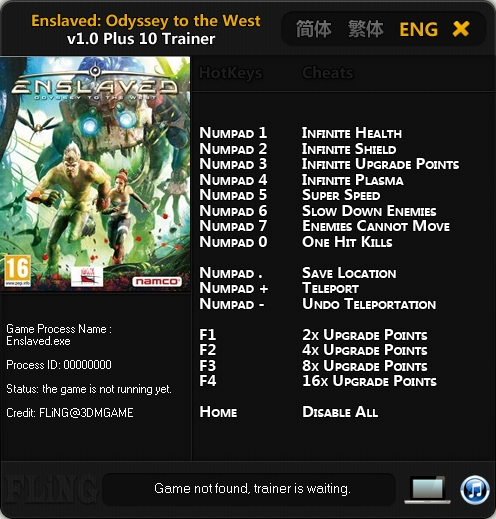 Enslaved Odyssey to the West v1.0 Trainer +10 [FLiNG]