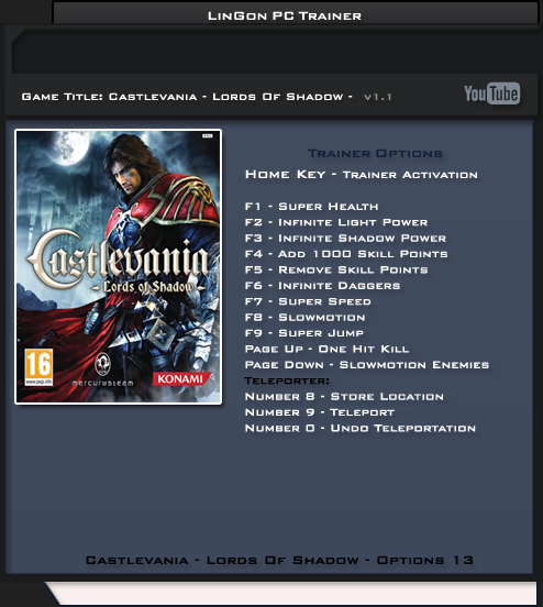 1Castlevania Lords Of Shadow 2 Trainer