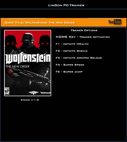 трейнер для Wolfenstein скачать - фото 4