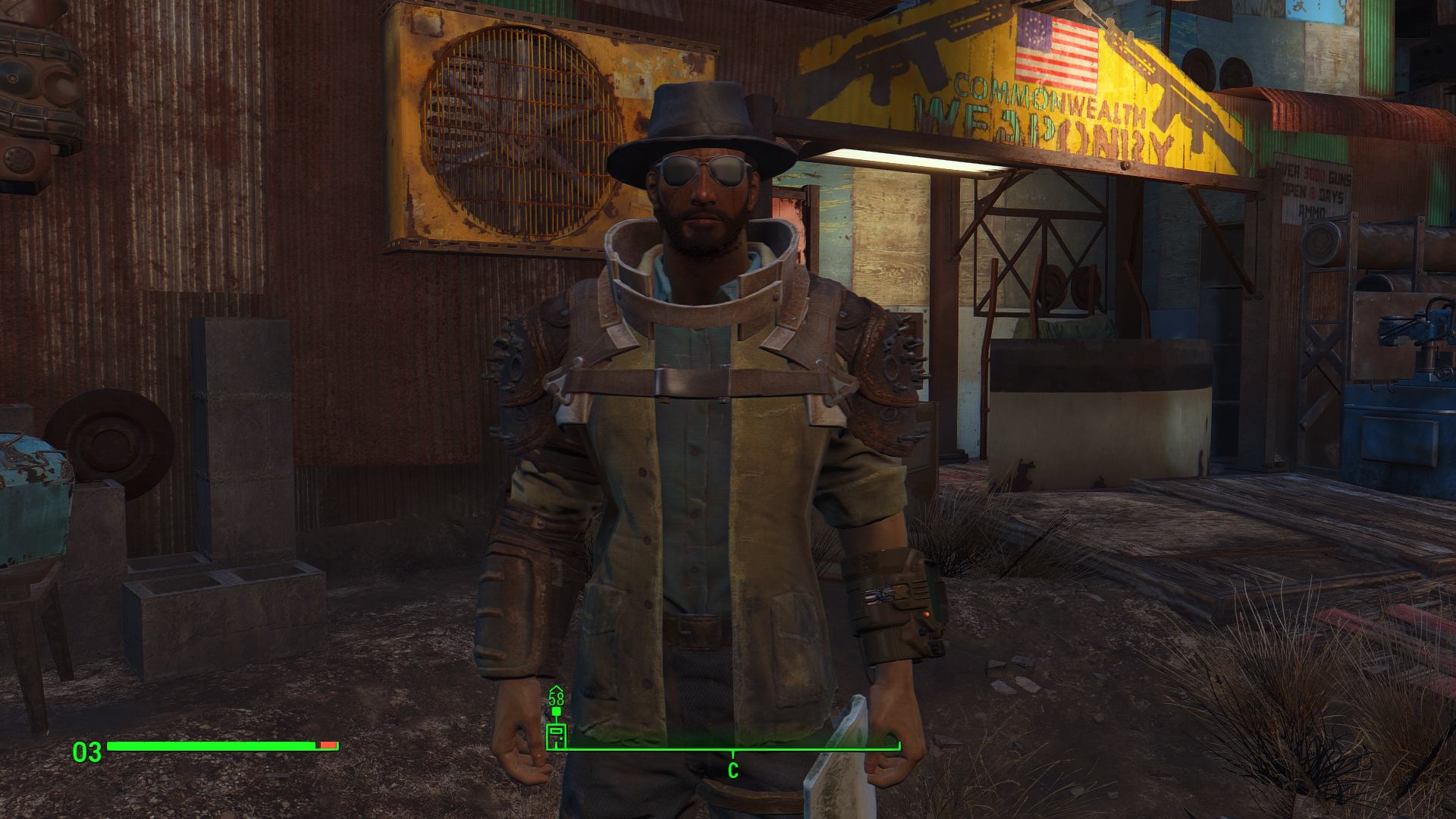 Как одеть комбинезон в fallout 4