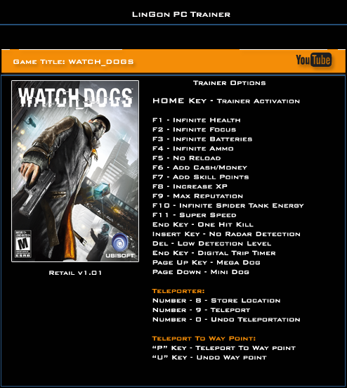 Watch Dogs Trainer Pc Uplay