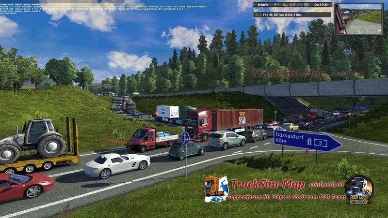 Скачать мод на euro truck simulator 2 на трафик