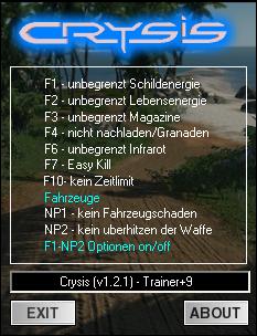 Crysis v 1.2.1 трейнер
