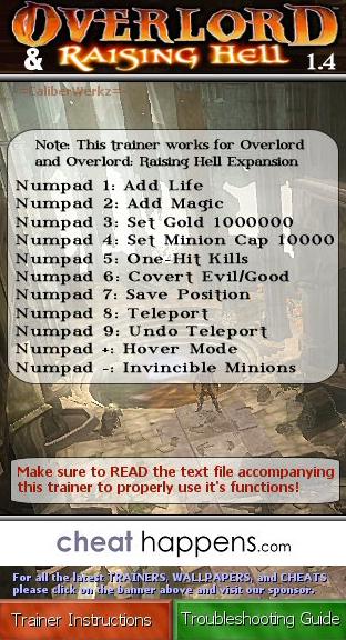 скачать читы на Overlord 2 - фото 9