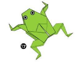 Схема оригами кваакающей лягушки - Коробочка с оригами.