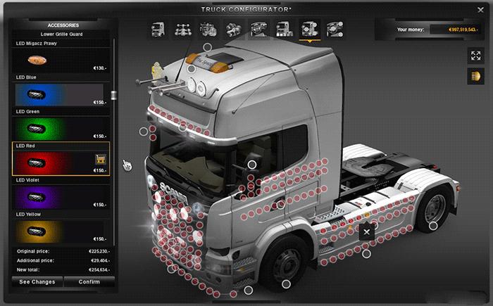 скачать моды euro truck simulator 2 scs тюнинг