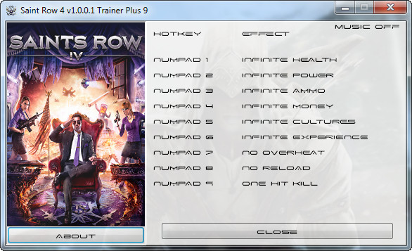 Saints Row 4 v1.01 +9 Trainer [Grizzly]